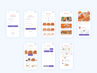 Mobile food delivery application