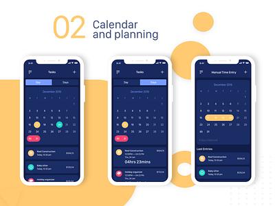 Work Timer Mobile App 02 uiux timer ui adobe xd ux designer app uidesign