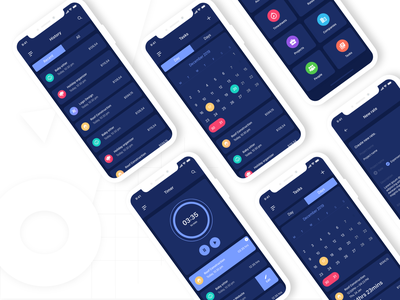 Work Timer Mobile App Promo uiux timer adobe xd ux designer app uidesign