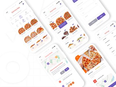 Food Delivery Mobile App uiux design ux designer mobile pizza food ios adobe xd mobileapp uidesign