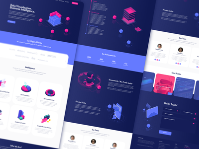 Data Analytics Website Design adobe ilustrator adobe photoshop adobe xd web page landing ui design website visualization dataviz data