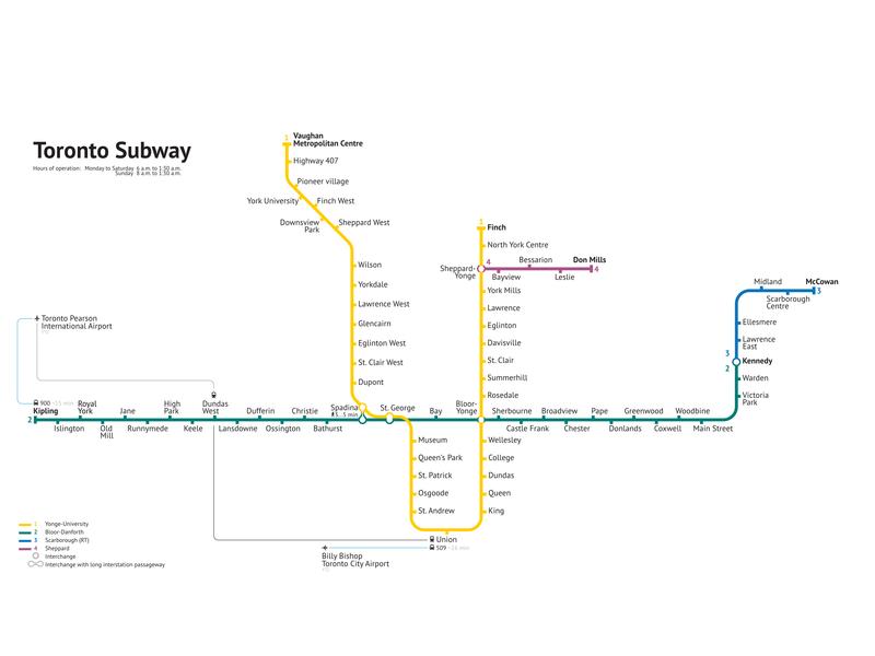 Subway Map Canada Toronto.Toronto Subway 2019 Unofficial By Av On Dribbble
