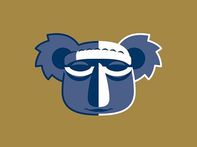 Koala Tiki design koala vector branding logo design logo illustration