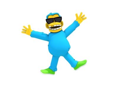 3D Chaaarles monkey sunglasses chaaarles ape modeling character cinema4d 3d