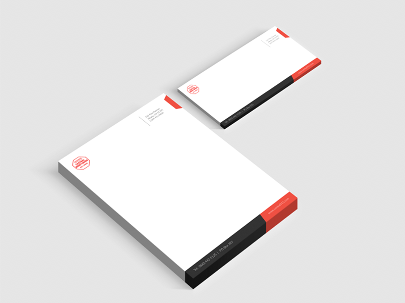 Letterhead & Envelope print graphic design envelope letterhead