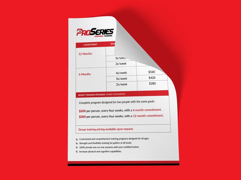 pricing package proseries personal training by brocksfield design