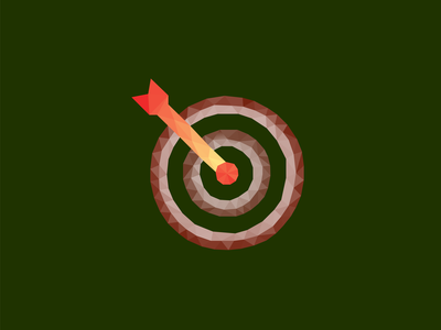 Low Poly Target Icon