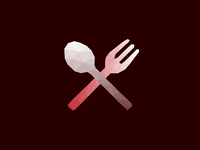 Low Poly Fork & Knife Icon