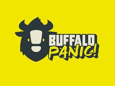 BuffaloPanic Logo typography branding logo design