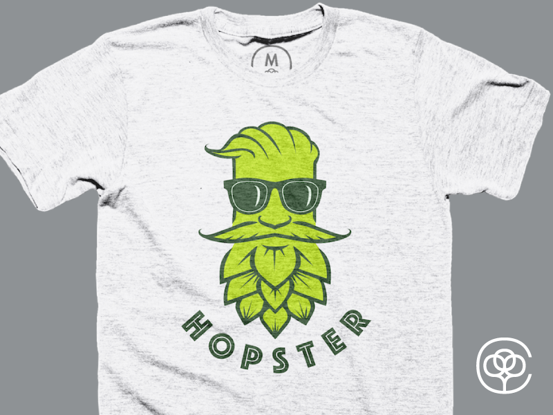 The Hopster logo design graphic design craft beer shirts cottonbureau brew beer tshirts