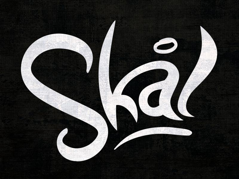 Skal typography hand lettering