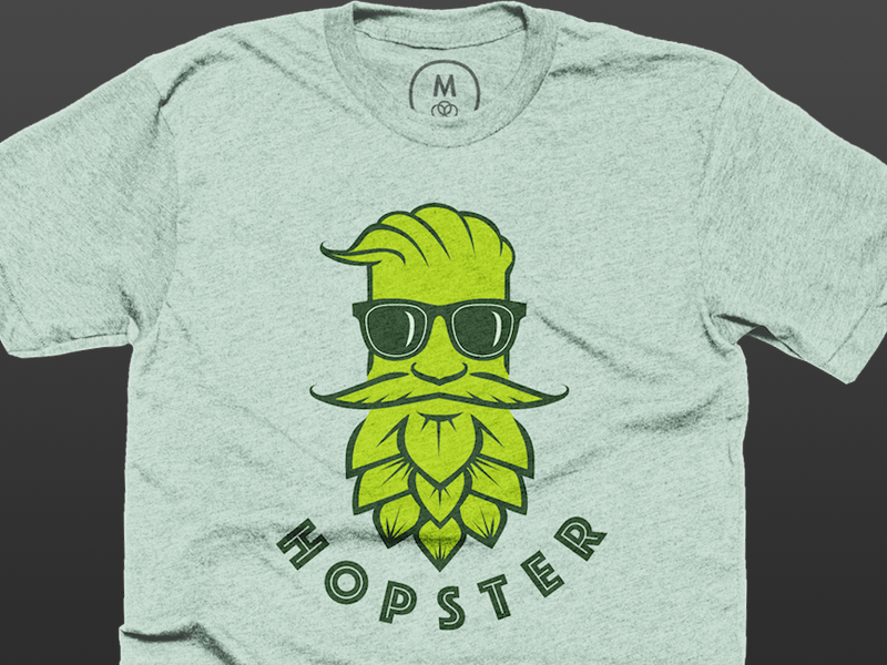 Hopster Tee fashion beer graphic design craft beer design shirt t-shirt