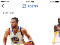 Sports app team roster