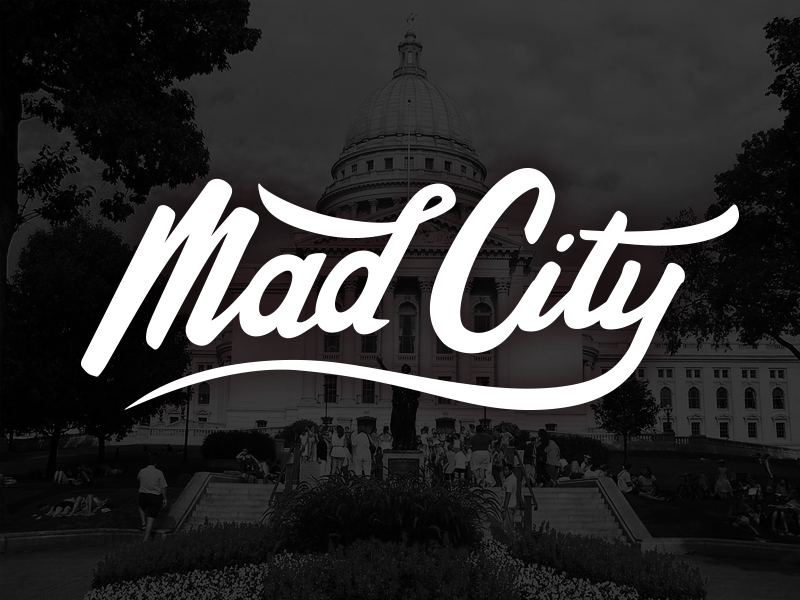 Mad City design wisconsin madison typography hand lettering