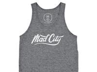 Mad city   tri blend   unisex   tank   grey