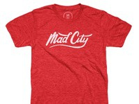 Mad city   tri blend   men   tee   vintage red