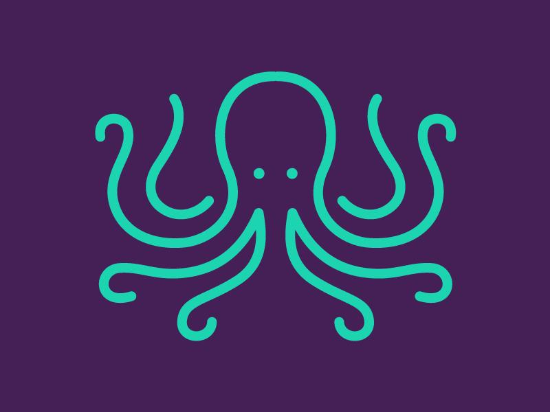 Dysruptyv Octopus graphic design octopus logo design logo