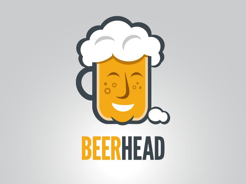 Beerhead brew illustration art craft beer graphic design logo design beer