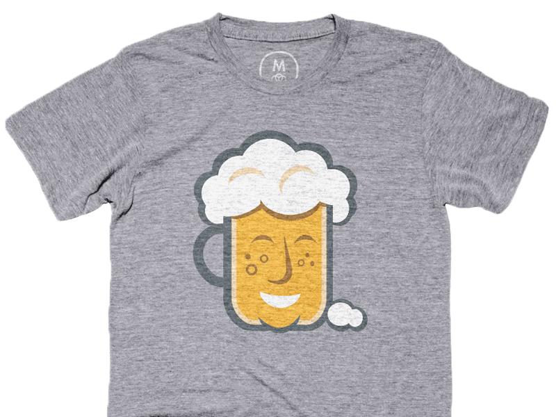 Be Hoppy Tee brew illustration art craft beer graphic design logo design beer