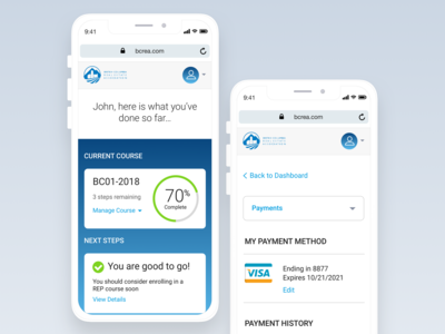 BCREA Learners Portal -  Mobile