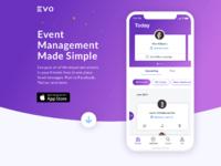Evo splash page