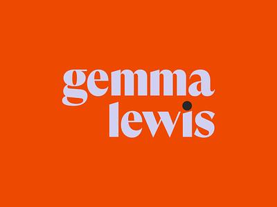 Gemma Lewis – Wordmark logotype personal branding identity design branding design writer identity branding wordmark