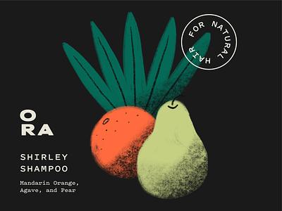 Ora Ingredient Illustrations hair fruit illustrations branding design identity branding and identity branding haircare