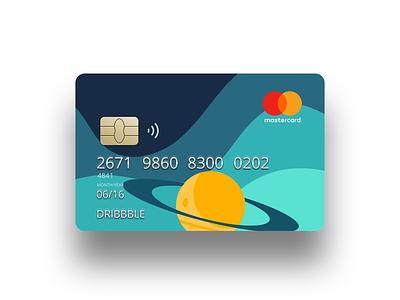 Space Credit Card flat design banking credit card graphic design