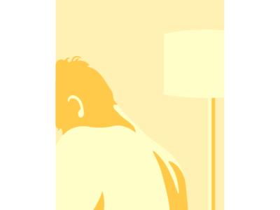 Yellow Man minimalism minimal art vector art vector illustration flat