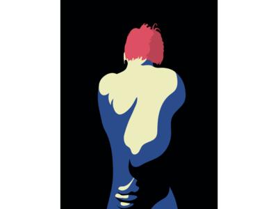 Piss pose minimal vector artwork vector illustration flat
