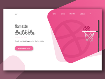 Namaste dribbble thank you debut concept web-design ui-design web design