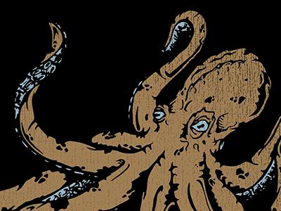 Octopus final, I guess? octopus texture hand drawn illustration illustrator sea ocean vector