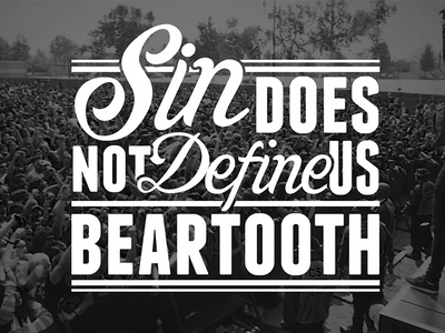 SDNDU beartooth typography vector fun