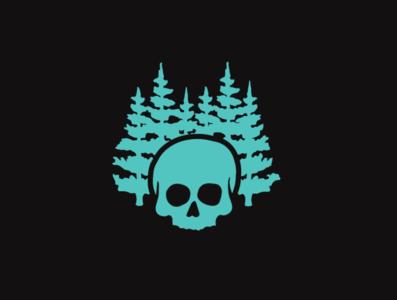 Skull & Trees Icon ai drawing brand icon branding design illustration logo illustrator vector