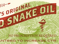 SEO Snake Oil Whiskey Label