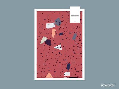 Terrazzo Pattern Vector Set pattern beautiful cute graphic design illustration vector