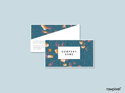 Terrazzo Pattern Vector Set namecard card pattern beautiful cute graphic design illustration vector