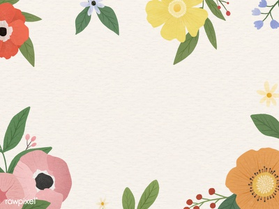 Colorful Flowers Vector Set card poster bg blooming flower beautiful cute graphic design illustration vector