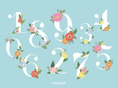 Colorful Flowers Vector Set element green background leaf nature typography flowers flower beautiful cute graphic design illustration vector