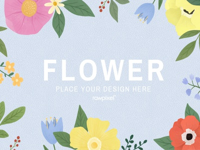 Colorful Flowers Vector Set flowers flower beautiful cute graphic design illustration vector