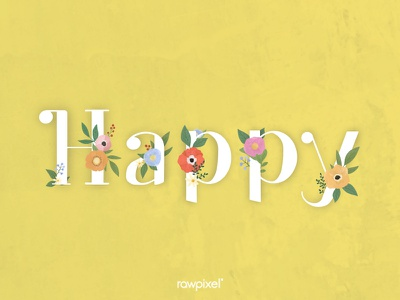 Colorful Flowers Vector Set cute green flowers typography flower beautiful graphic design illustration vector