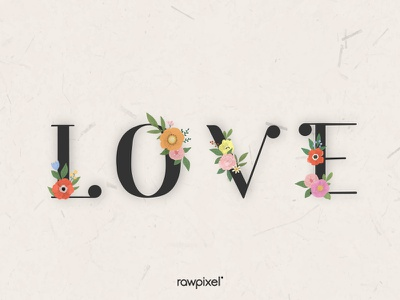 Colorful Flowers Vector Set love drawing typography flowers flower cute beautiful graphic design illustration vector