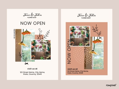 Flower Shop Poster flower beautiful cute graphic design vector illustration