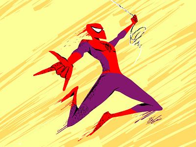 Friendly neighborhood peter parker hero costume fantasy comic art sketch designer illustration concept design design superhero marvel spider-man