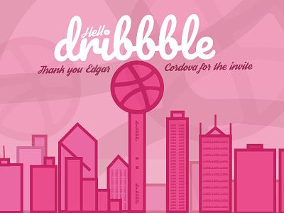 Hello Dribbble! first shot skylines dallas