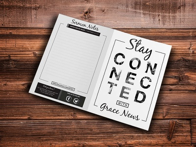 Grayscale BiFold Church Bulletin grayscale print bulletin