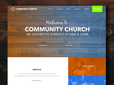 Community Church Mockup 1