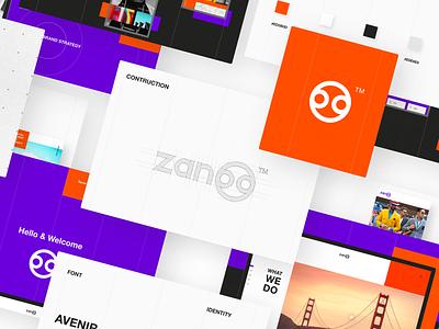 UX/UI & Branding for Zanoo Marketing Agency by Taron Badalian typography trend 2019 modern mobile popular design purple color orange agency marketing branding logo web uxui ux ui xd adobxd