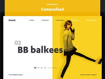 Fashion website web ui ux typography design