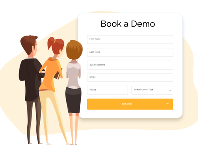 Book a Demo vector illustration desktop uiux webdesign